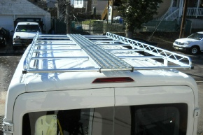Cargo carrier rack with optional catwalk